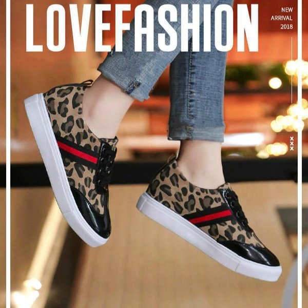 Juyouki Autumn Summer New Women's Leopard Casual Shoes for Women Girls Breathable Outdoor Sport Shoes Ladies Fshion Flat shoes