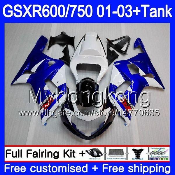 +Tank For SUZUKI GSX R750 GSXR 750 600 K1 GSXR600 Stock Blue Frame 01 02 03  294HM 7 GSX R600 R750 GSXR 600 GSXR750 2001 2002 2003 Fairings Motorcycle