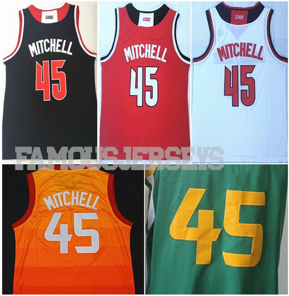 competitive price 6459c 595ec 2019 Louisville First College Jerseys #45 Stitched Basketball Jerseys  Donovan Mitchell Player Game Uniform UT City Jerseys From Famousjerseys,  $15.6 | ...