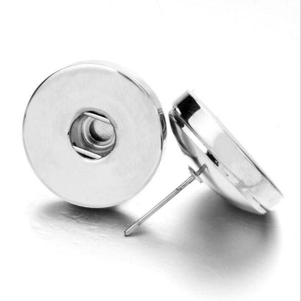 Noosa Ginger Snap Stud Earrings for Men Women Pierced Ears Earings 18mm Interchangeable Button Jewelry on Sale