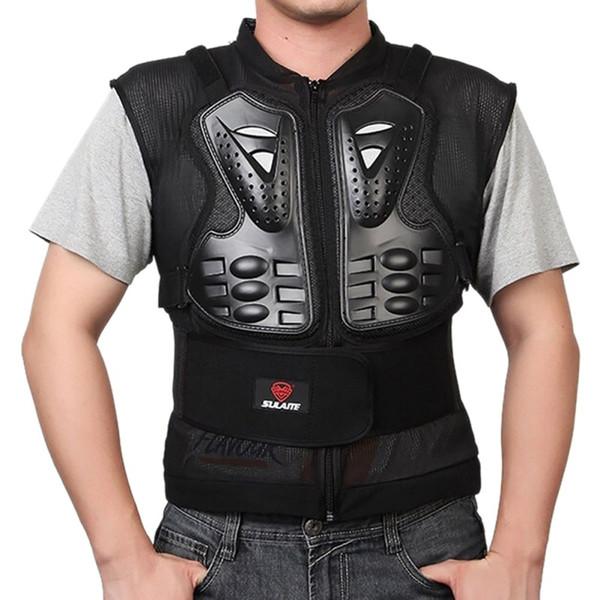 Sin mangas del chaleco de la motocicleta para adultos transpirable elástico Ropa protectora ajustable ciclo al aire libre