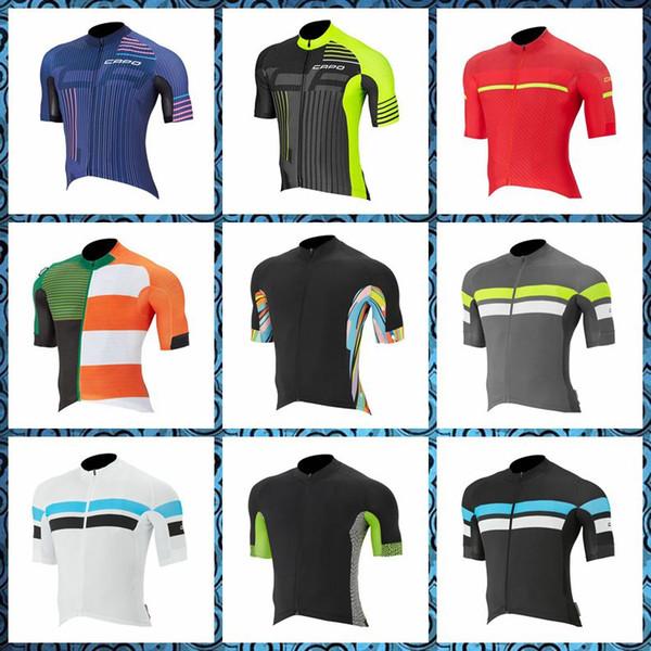 2019 Yeni CAPO ekibi Bisiklet Kısa Kollu jersey erkek yaz hızlı kuru Giyim maillot dağ bisikleti U51029