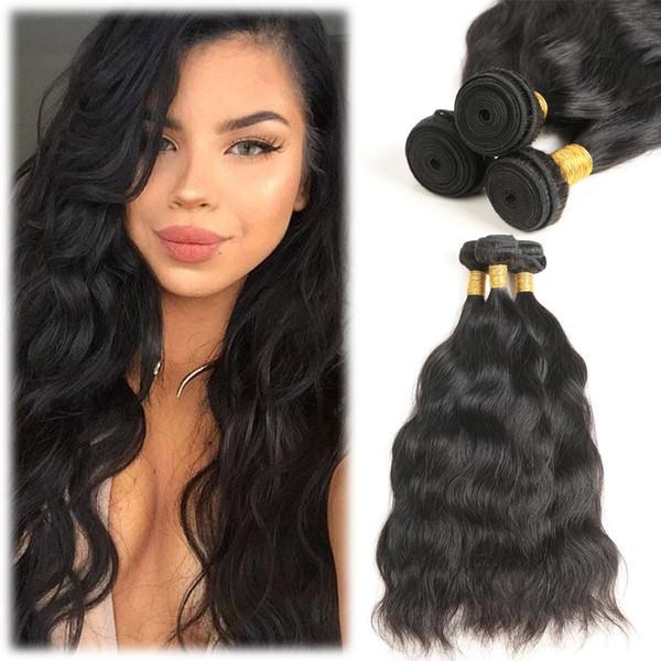 10A Remy brasilianisches natürliches Wellen-Haar 3 bündelt 100% unverarbeitete brasilianische Jungfrau-Menschenhaar-Einschlag-preiswerte gewellte Haar-Webart-natürliche Farbe
