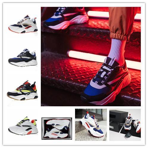 2019 Mais Novo Designer De Luxo Homme B22 Trainer Sapatilha de Alta Qualidade Preto Branco Dos Homens Das Mulheres Da Moda Dad Sports Running Shoes Tamanho 36-45