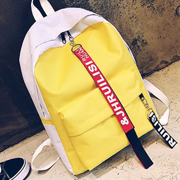 Anti-theft Earphone Hole Women's Backpacks Canvas Laptop Backpack Girls Travel Shoulders Bag Plecak Szkolny  Antifurto