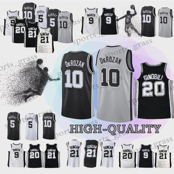 size 40 260d5 f34b0 San Antonio DeMar 10 DeRozan Spurs Jerseys Tim 21 Duncan Manu 20 Ginobili  Jersey Top Quality Promotion UK 2019 From Sports_grass, UK $$19.59 | DHgate  ...