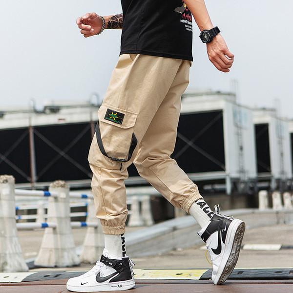 Sommer Designer Herren Hosen Neue Mode Hosen mit Hip-Hop Lose Beam Taschen Lässige Gurtband Neun Punkte Jogginghose für Männer