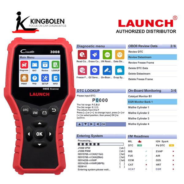 Luanch Creader 3008 OBD2 Scanner OBD2 Fault Code Reader Scanner OBD II Car  Engine Diagnostic Tool Launch Code Creader Motor Vehicle Diagnosis Machine