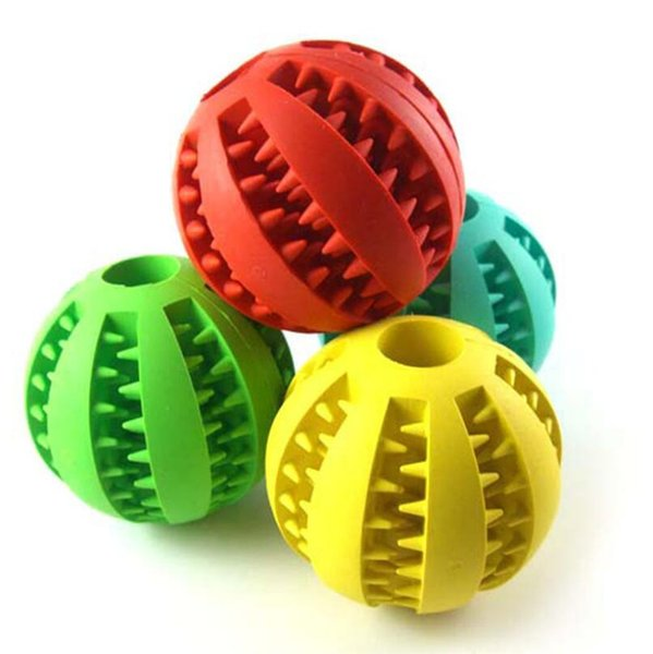 Home & Garden Pet Dog Toy Rubber Ball Toy Funning Light Green ABS Pet Toys Ball Dog Chew Toys Tooth Cleaning Balls of Food 4.8cm LX5908