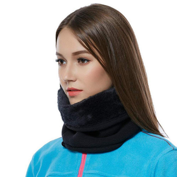 Multicolor Unisex Men Women Cotton Blend Fleece Neck Warmer Snood Scarf Hat Unisex Thermal Ski Wear Snowboard #3D03