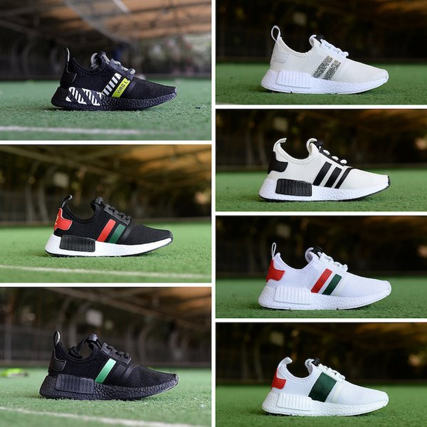 Cheap Online Wholesale R1 Primeknit for kids Discount Sales Black Red white Sneaker Shoes Running sneakers