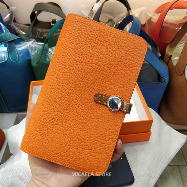 Mens womens luxury designer passport holder credit card holder brand genuine leather passport cover wallet handbags purses porte monnaie