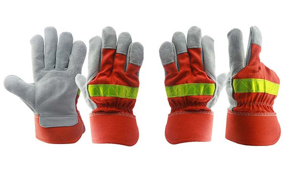 Welding gloves Anti-fire Flame-retardant Safety Working Gloves Industrial welding Wear resistant Protective Labor Work gloves wholesale 2019