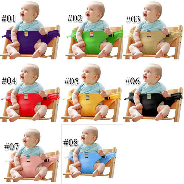 8 Colors Baby Portable Seat Children Dining Chair Belt Candy colors Eat Chair Seat Belt Dining Seat Harness Baby Belt Safety DHL