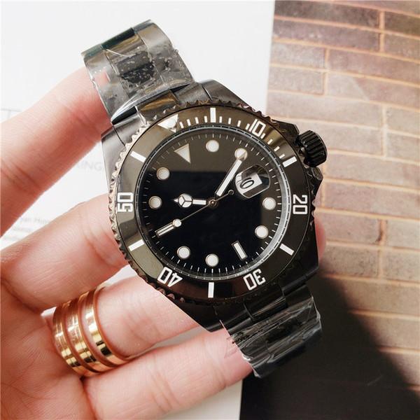 Hombres de calidad superior Wacth de lujo Color negro Diseñador de acero inoxidable Movimiento automático de lujo Relojes mecánicos Reloj deportivo Envío gratis