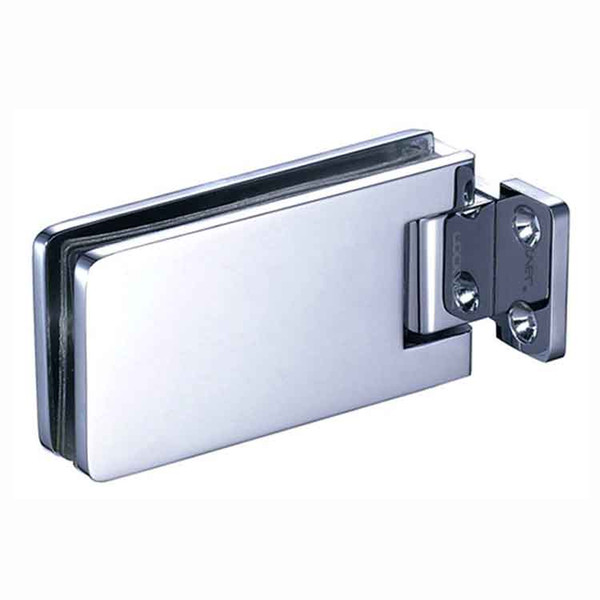 Laiton certifié EN1670, chanfrein à 180 degrés, carré, salle de bains, douche, porte en verre, charnière, pince de fixation