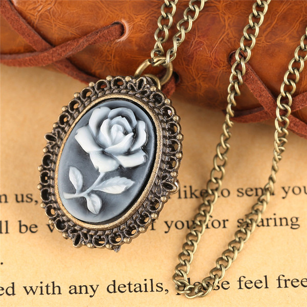 atches Pocket Fob Watches 3 Type Retro Flower Rose Butterfly Design Quartz Pocket Watch Ladies Women Girl Necklace Pendant with Chain Bir...