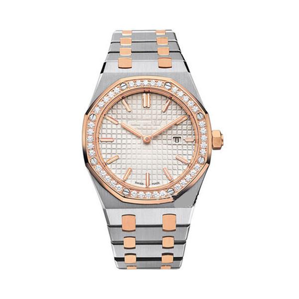 orologi da donna di lusso con diamanti Orologi da polso antichi modello classico Orologi da polso da donna in oro e argento di alta qualità in oro e argento con Diamo