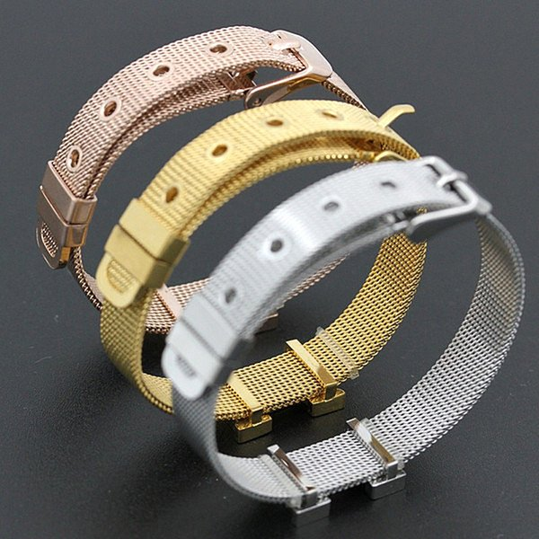 Colorfast Top Qualität Schmuck Titan Mesh Armband Mode Berühmte Marke Einstellbare Manschette Armband Frauen H Armreif Joyas Bijoux H-2016 K3373