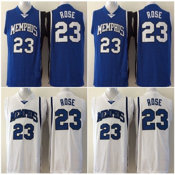 buy popular 787d6 2def8 2019 Men College 23 Basketball Derrick Rose Jersey Sale Blue University  Memphis Tigers Jerseys Uniform Breathable For Sport Fans From  Cheap_top_sport, ...