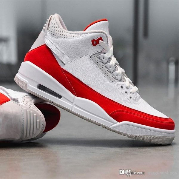 1c5fd73e583 2019 Release Authentic Tinker 3 OG White University Red Neutral Grey Mens  Basketball Shoes CJ0939-100 Sports Sneakers With Original Box
