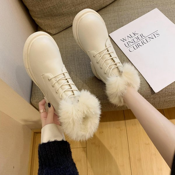 lady boots round toe booties woman 2019 low heel boots-women lace up winter shoes for women ladies mid-calf 2020 mid calf rock