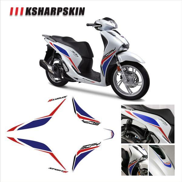 autoadesivo del corpo frontale impermeabile moto decalcomania carenatura KSHARPSKIN imballaggio Kit Super appiccicoso per Honda SH125 SH 125