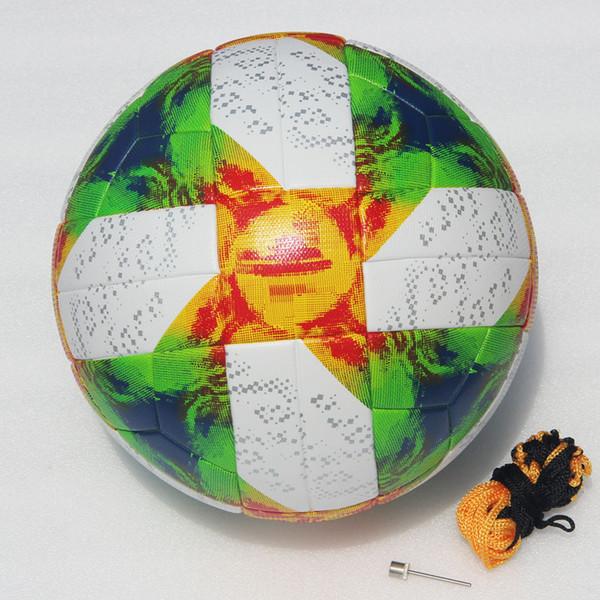 2019 Women World Cup Soccer Ball Conext 19 Match ball PU high quality seamless paste skin football ball Green
