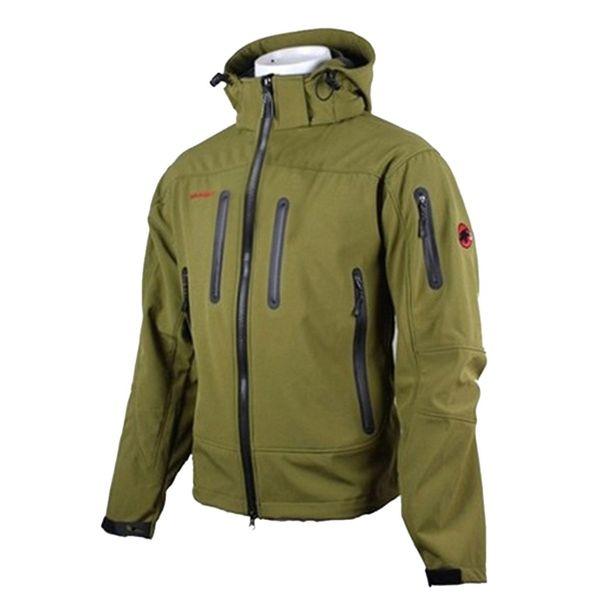 SAGACE Jacket aquecida Homens Inverno com capuz Softshell para à prova de vento e impermeável Casaco Soft Shell Jacket I401009