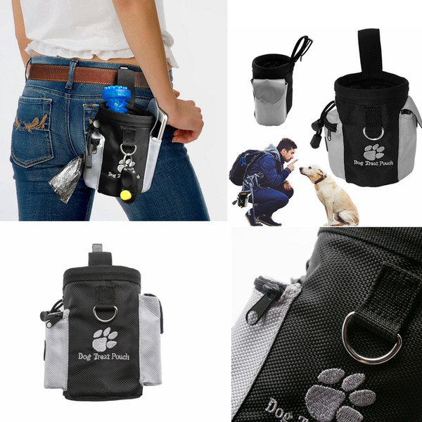 Pet Training bag Tool Dog Puppy Snack Bag food Obedience Hands Free Agility Bait Food Training Treat Pouch Pet Supplies pouch FFA2263