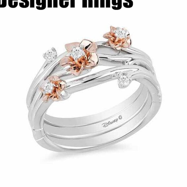 new 2019 wholesale manufacturer rings for friends fashion bronze real 925 sterling silver festival party cheap rainbow square swarovski