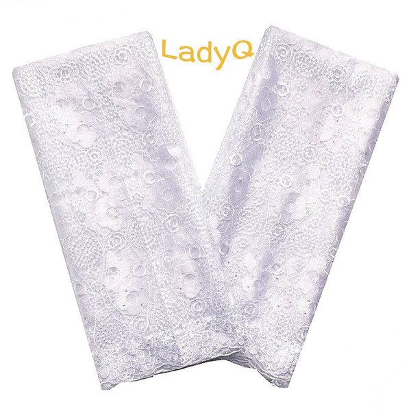 Stone White African Fabric Lace Swiss Mesh Materials French Lace Net Fabrics Aso Ebi Nigerian Lace Fabric 2019 High Quality Laces
