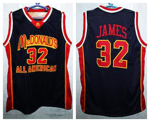 ef5714bed McDonald s All American LeBron James  23 Retro Basketball Jerseys Mens  Stitched Custom Any Number Name