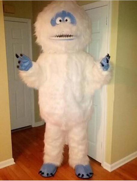 Professionelle benutzerdefinierte weiße Schnee Monster Maskottchen Kostüm Cartoon Charakter Sonwmen Maskottchen Kleidung Weihnachten Halloween Party Kostüm