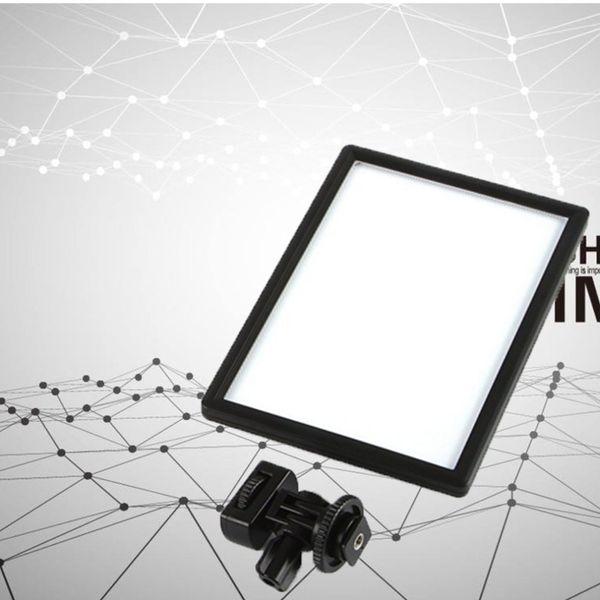 L116T LED Video Işığı Ultra ince LCD Bi-Renk Dim DSLR Stüdyo LED Işık Lamba Paneli Kamera DV Kamera için