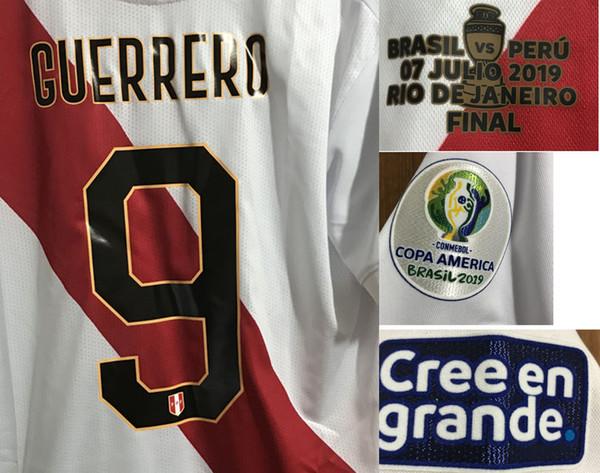 2019 Copa america finale Perù con dettagli partita GUERRERO Brasile vs Perù Iron Soccer Patch Badge
