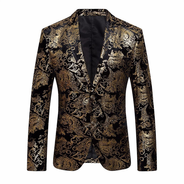 Men's Dress Floral Suit Notched Lapel Slim Fit Stylish Blazer Coat Jacket Z10 #530720