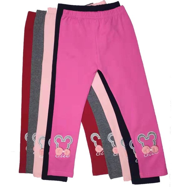 New spring and autumn cotton Baby tights Children's leggings Pants for girl Cartoon three-dimensional embroidery