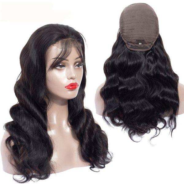 Virgin Human Long Body Wave Wigs Long Full Lace Wigs for Black women 8-26inch Lace Frontal Malaysian Virgin Human Hair Wigs Free Shipping