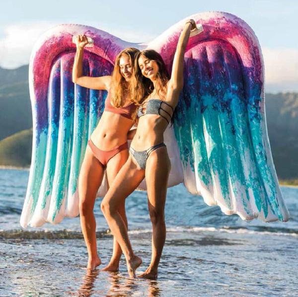 Schlauchboot Angel Wings Floating Bed Kinder Aufblasbare Schwimmring Spielzeug Erwachsene Dickes Wasser Stuhl Sommer Freizeit Strand Waten
