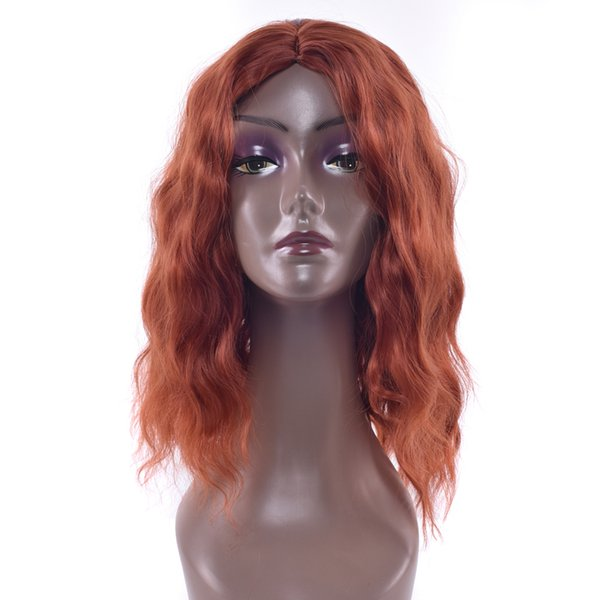 3 Colors Burgundy Kinky Curly Synthetic Hair Cosplay Wigs Party Hairpiece Black Bob Short Wig For Black Women