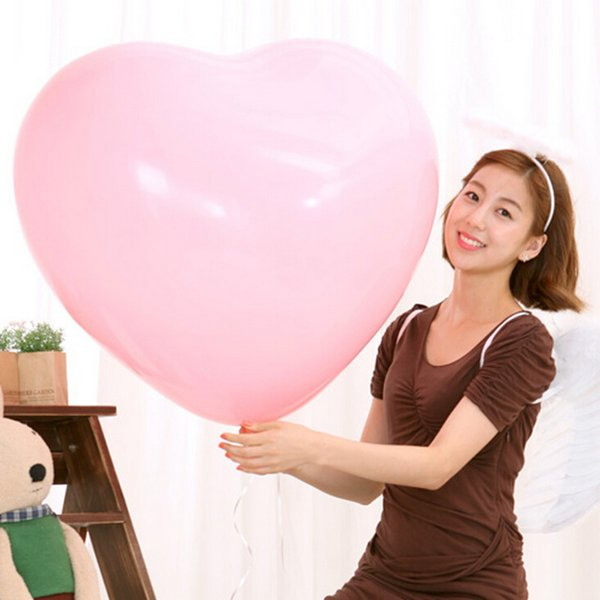 Big Latex Balloons for Wedding Birthday Party Colorful Blow Up 36 Inches Oversized Heart Love Balloon Helium Inflable Decorations wang