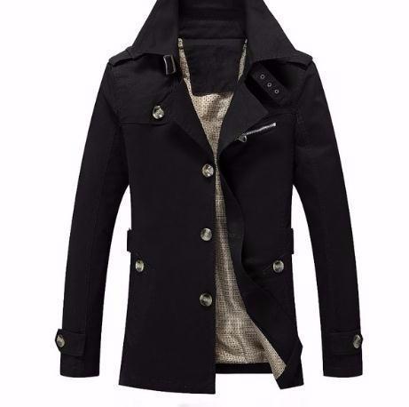 2019 Marca Homens Casaco Moda Cor Sólida Jaquetas Masculinas Veste Homme Casuais Casaco Fino Casaco Trench Coats
