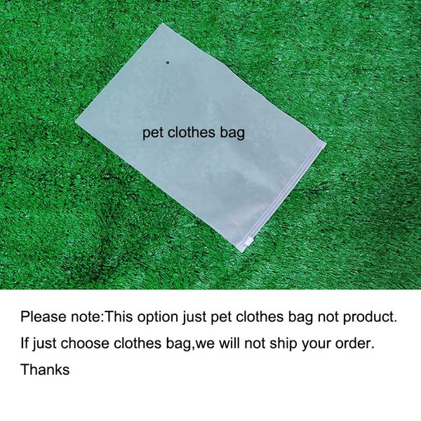 Saco de roupa do cão