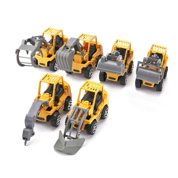 toy steering 6pcs/lot Mini Car Toys Diecast Vehicle Sets Construction Bulldozer Excavator Engineering Car Kit Kids Mini Vehicle Model Toys