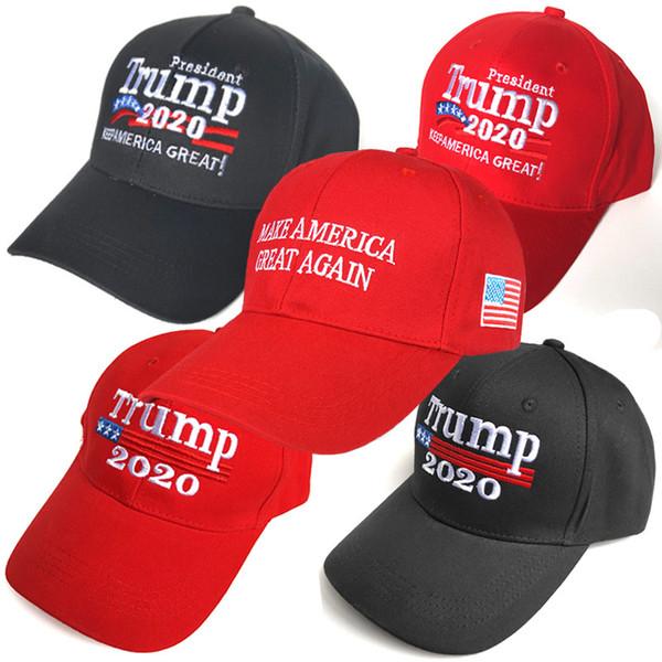 DHL nuevo Keep America Great Again Cap 2020 Donald Trump bordado gorra de béisbol ajustable con bandera de EE. UU. Para hombres mujeres Snapback M204F