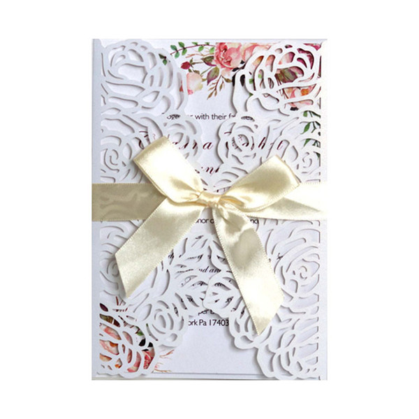 New 2019 Laser Cut Wedding Invitation Cards Ribbons For Wedding Bridal Shower Engagement Birthday Graduation By Dhl Fast Fairy Tale Wedding
