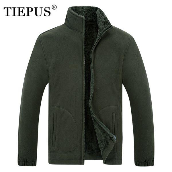 TIEPUS new men`s Soft shell Fleece Army Green Hoodies Sweatshirt Men Hip Hop plus size XL~6XL,7XL ,8XL sporting Tracksuits hoody