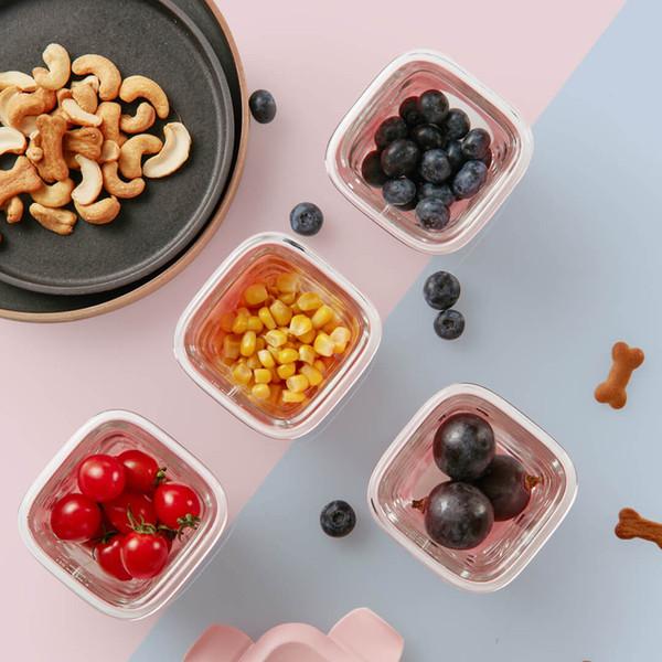 Оригинальный Xiaomi Youpin Калар детского питания Контейнер стекла Ящик для хранения продуктов питания Стекло Силикон Food Supplement Box Младенец Зернистое 3009398C3