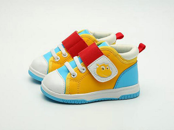 top popular Jeff Sneaker Unisex little kids Fashion Casual Sneaker multi color 2019 new Comfortable anti-slip light weight babyshoes 2019